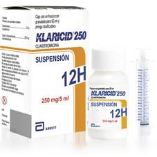 Klaricid 12h Claritromicina Antibiotico Suspension Abbott Rx