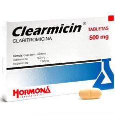 Clearmicin Claritromicina Antibiotico Tabletas Hormona Rx